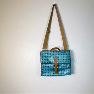 Fossil coated canvas messenger bag